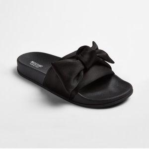 NEW Mossimo Julisa slide slip on sandals black bow